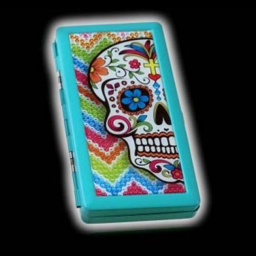 PITILLERA CALAVERA MEXICANA AZUL 089
